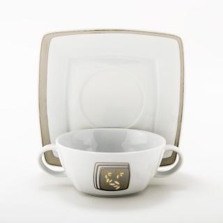 Serwis obiadowo-kawowy biały Victoria dla 12 osób (109 elementów)