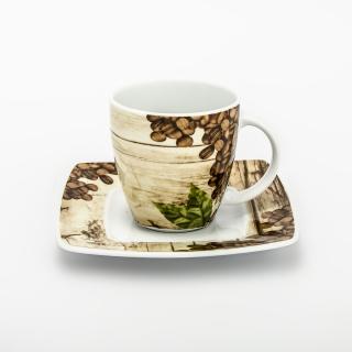 """Zestaw kawowo-śniadaniowy dla 2 osób Victoria """"kawa"""" (6 elementów)"""