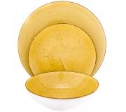 Serwis obiadowy Lubiana  BOSS 6630J dla 6 osób (18 elementów) żółty