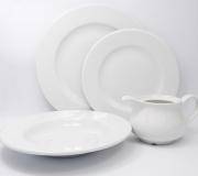 Serwis obiadowy biały Wersal dla 12 osób (44 elementy)