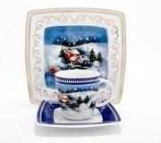 """Garnitur do kawy Victoria dla 12 osób (40 elementów) """"dekoracja zimowa"""""""