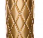 Świeca Florencja metalizowana w kolorze złoty - walec 14cm