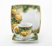 """Garnitur śniadaniowo - kawowy Victoria dla 6 osób (18 elementów) """"dekoracja świąteczna"""""""