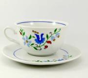 """Garnitur do herbaty Jastra dla 6 osób (19 elementów) """"wzór kaszubski"""""""
