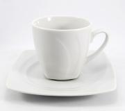 Garnitur do kawy biały Celebration dla 6 osób (20 elementów)