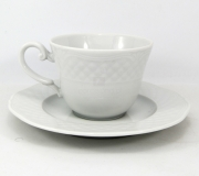 Garnitur do herbaty biały Arianna/Afrodyta dla 6 osób (23 elementy)