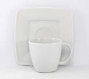 Garnitur do kawy biały Victoria dla 6 osób (20 elementów)