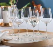 Zestaw 6 kieliszków do białego wina 370 ml RUBIN GOLD
