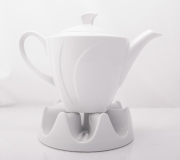 Garnitur do herbaty biały Celebration dla 12 osób (41 elementów)