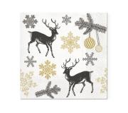 """Świąteczne serwetki papierowe """"zimowe jelenie"""" (20 szt/op)"""