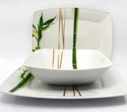 """Serwis obiadowy Victoria dla 12 osób """"bambus"""" (44 elementy)"""