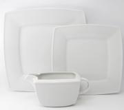 Serwis obiadowo-kawowy biały Victoria dla 12 osób (107 elementów)