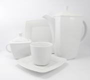 Garnitur do kawy biały Victoria dla 12 osób (39 elementów)
