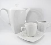 Garnitur do kawy biały Celebration dla 12 osób (39 elementów)