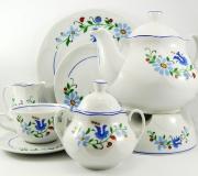"Garnitur do herbaty Jastra dla 12 osób (42 elementy) ""wzór kaszubski"""