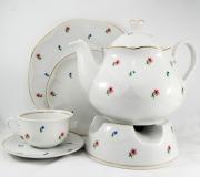 """Garnitur do herbaty Jastra dla 12 osób (42 elementy) """"drobne kwiatki"""""""