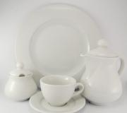 Garnitur kawowy biały Wersal dla 12 osób (40 elementów)