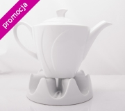 Garnitur do herbaty biały Celebration dla 6 osób (23 elementy)